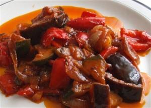 Paprika-Zucchini-Gemüse