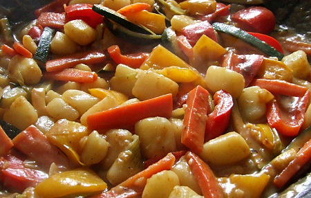 Chinesische Kartoffelpfanne