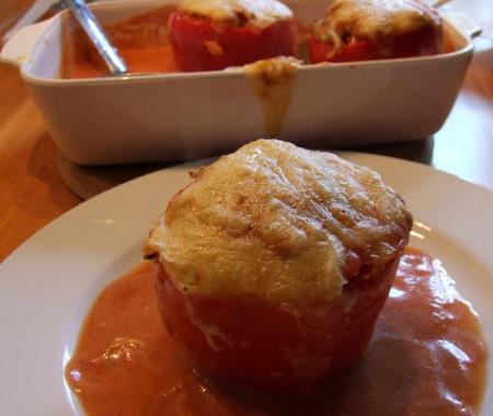 vegetarische gefüllte Paprika