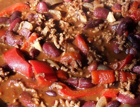 Chili con Carne mit Rinderhackfleisch und Schokolade