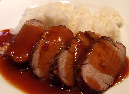 Babi Pangang - gegrilltes Schweinefilet