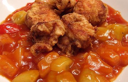 Gai Pad Priau Wan - Hühnerbrust süß-sauer