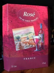 Französischer Rosé im 3-Liter-Schlauch vom Edeka