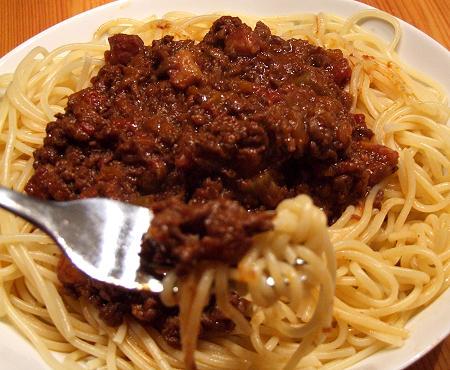 Ragù alla bolognes mit Spaghetti