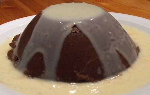 Schokoladenpudding mit Vanillesoße