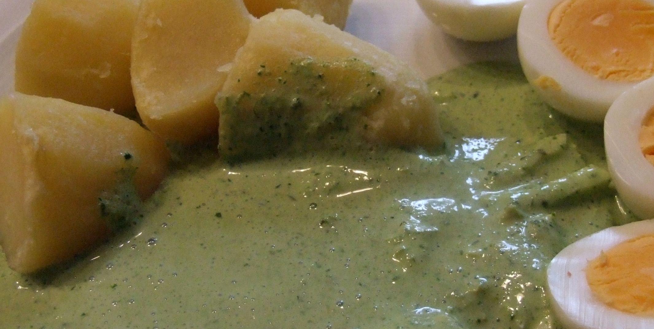 Orignial Frankfurter Grüne Soße mit Salzkartoffeln und Eiern
