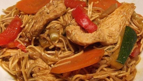 Curry-Hühner-Pfanne mit Kokosmilch