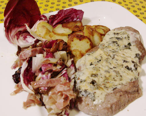scaloppina-di-vitello-con radicchio