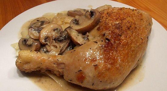 Coq au Riesling - Huhn in Weißwein