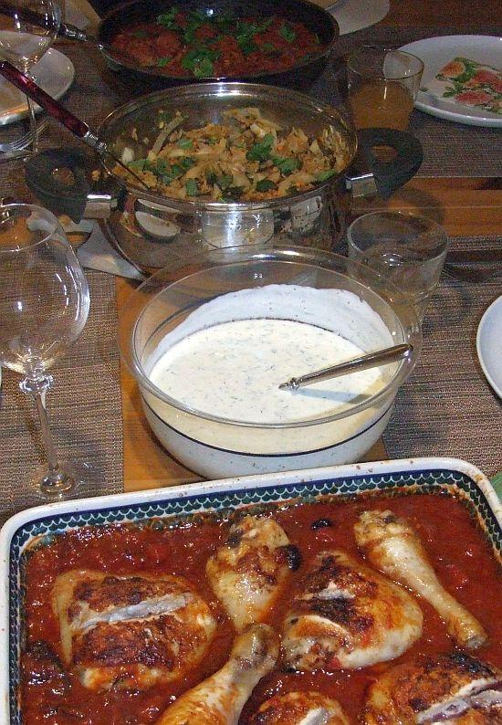Orientalischer Reis mit Minze-Joghurt-Dip