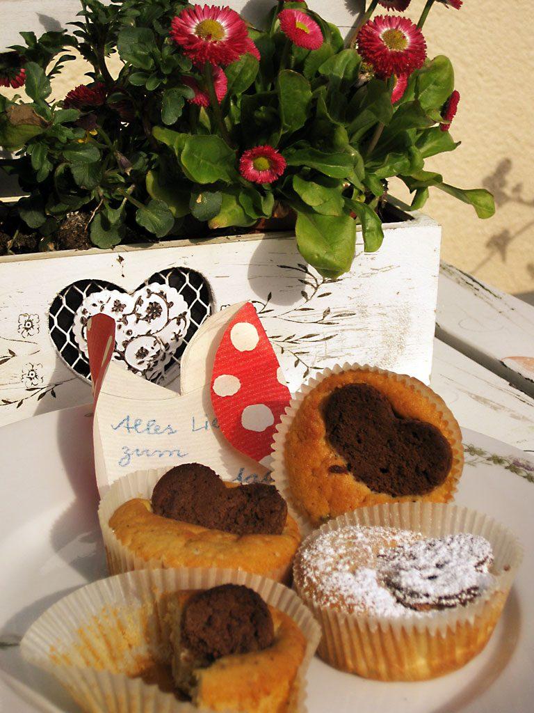 Herz-Cupcakes zum Muttertag