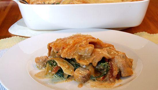 Foto: Lasagne mit Lachs und Mangold