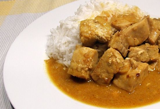 Foto: Lachs-Curry mit Basmatireis