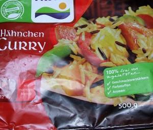 Foto: Verpackung Fertiggericht Hähnchen-Curry von Frosta