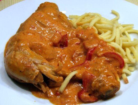 Foto: Ungarisches Paprikahähnchen - Csirkepaprikás