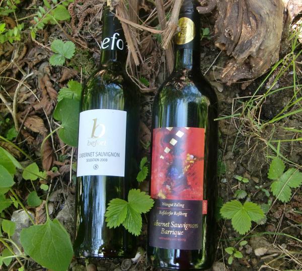 Cabernet Sauvignon vom Weingut Befort und vom Weingut Edling