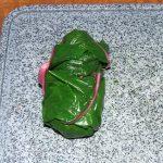 Foto: Magoldblatt gefüllt und aufgerollt
