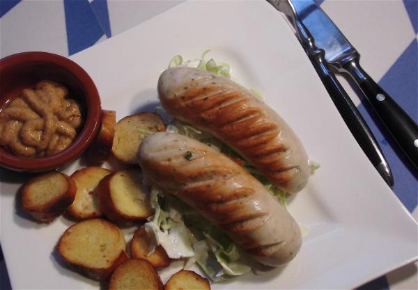 Weisswurst mit Brezelchips