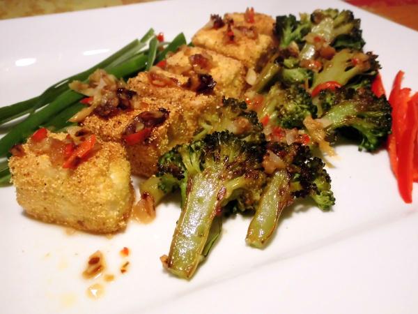 gebratener Tofu mit Ingwer