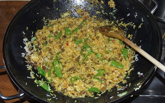 Foto: Gebratener Reis aus dem Wok