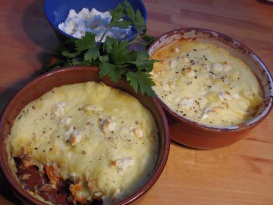 shepherd's pie-hackfleisch-kürbis-kartoffelpüree-schafskäse