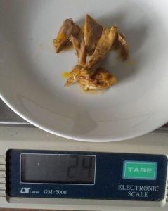 Foto: 24 g Hühnerfleisch