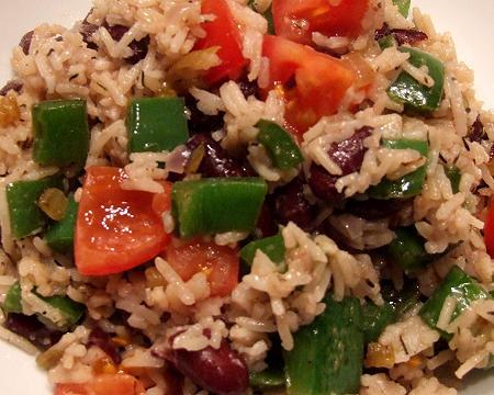 Karibik - Reis mit Bohnen