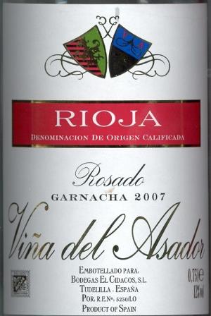 Rioja Rosado Vina del Asador 2007